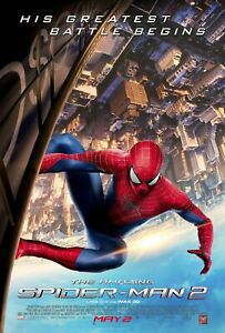 """THE AMAZING SPIDER-MAN 2 GLOSSY Original 27""""X40"""" Movie Poster DS 2014 MARVEL"""