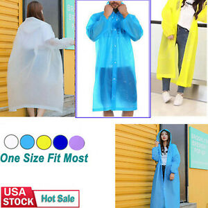 Men Women Raincoat Adult Emergency Rain Coat Poncho Hiking Camping Breathable