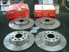 VW GOLF MK5 2.0GTI EDITION 30 MK5 DRILLED GROOVED FRONT REAR BREMBO BRAKE DISCS