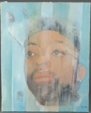 AFRICAN AMERICAN ARTIST MERTON SIMPSON SPIRAL PAINTING SPIKE LEE 20 X 16 INCHES