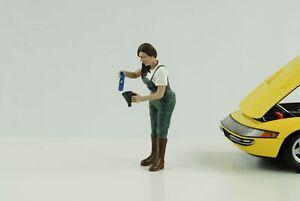 Figura Auto Ragazze IN Tees Donna Girl Kylie Füllt Olio 1:18 American Diorama N