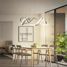 "Modern 21"" Draped Ribbon LED Chandelier Dimmable Linear Pendant Light Fixture"