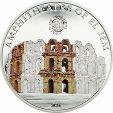 Palau 2016 Amphitheatre of El Jem 5 Dollars Silver Coin,Proof