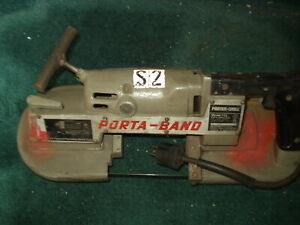 Porter Cable Porta-Band Model 725 Extra Heavy Duty Band Saw 2 Speed w. New Blade
