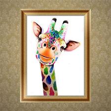 DIY 5D Diamond Broderie Peinture Giraffe Point de croix  Artisanat maison Décor