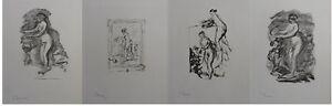 Auguste RENOIR (d'après) : les femmes - 4 LITHOGRAPHIES signées, 1951,  MOURLOT