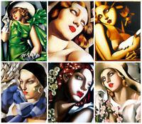 """Tamara De Lempicka Canvas Wall Art Print.  20""""X20"""""""