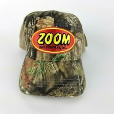 Zoom Bait Company Fishing Lure Camo Hat AdjustableBack Trucker Cap Baseball New