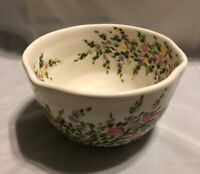 "Tabletops Unlimited Spring Garden Bowl 6"" X 3.5"" Cereal Soup Ice Cream Serving"