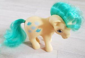 VINTAGE G1 MY LITTLE PONY - CASCADE WATERFALL yellow 1983 HASBRO green hair RARE