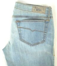 Diesel Women's Dark Wash 0rz74 Livier Super Slim Flare Jeans 30 X 32