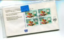 UNITED NATIONS 1992  FIRST DAY ISSUE STAMP COVER SET LOT 6 TECHNOLOGY 7521K
