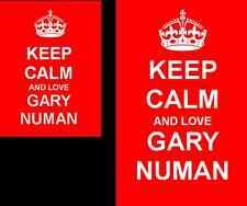 Keep Calm And Love Gary Numan 2 Sided Keyring And Fridge Magnet Set