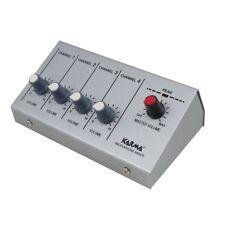 KARMA MX 2004 mini mixer microfonico 4 canali jack 6,3 mm per live karaoke NUOVO