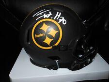 T.J. TJ Watt Autographed Pittsburgh Steelers Eclipse Mini Helmet ! JSA W
