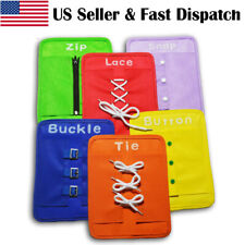 6x Colorful Baby Early Learning Kits Basic Life Skills Toys Learn To Dress Board