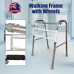 Adjustable Height Folding Aluminium Walking Frame Medical Walker Mobility AU X