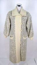 Hilda Ltd Sweater Coat Jacket Sz M Womens Iceland Gray & Creamy White Wool Vtg