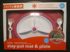 Skip * Hop Stay-Put Mat & Plate Pink