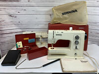 Bernina 830 Record Sewing Machine In Hard Case W/ Pedal & Accessories TESTED