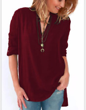 Women's Lady Casual Half Sleeve Shirts Loose Blouses T Shirt Tops Plus Size 5XL