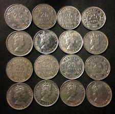 Vintage Belize Coin Lot - 16 Excellent Uncommon 25 Cent Coins - FREE SHIPPING