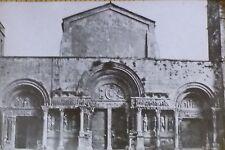Abbey Church of Saint-Gilles du Gard, France, Magic Lantern Glass Slide