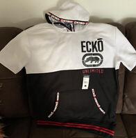 Ecko Unlimited Men Hoodie Tri-color Hoodie Short Sleeves Size Large
