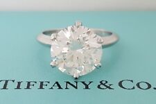 5.01 ct Tiffany & Co Platinum Round Diamond Solitaire Engagement Ring Rtl $484k