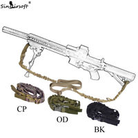 Tactical 2Two Dual Point Sling Adjustable Bungee Hunting Rifle Gun Airsoft Strap