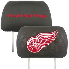 Fanmats NHL Detroit Red Wings 2-Piece Embroidered Headrest Covers Del. 2-4 Days