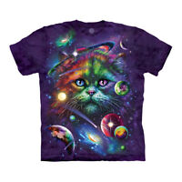 The Mountain Cosmic Cat Adult Unisex T-Shirt