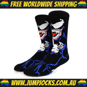 Venom/SpiderMan Dress Socks - Cotton, Unisex, Bright *FREE WORLDWIDE SHIPPING*
