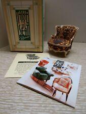 Doll House Miniature.Take A Seat By Raine.1:12.Mrs. Vanderbuilt'S Chair.Mint