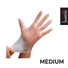 Disposable MEDIUM Vinyl Clear Powder Free Gloves, Box of 100