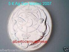 5 euro San Marino 2007 argento FDC Pari Opportunità Saint Marin Сан - Марино
