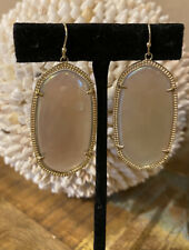 Kendra Scott Iridescent Agate Gold Danielle Drop Earrings Rare Vintage