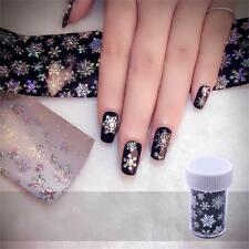 Nail Art Transfer Foils Stickers White Snowflake Christmas Manicure Decoration