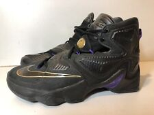 Nike LeBron XIII Men's 10 Pot of Gold Black Purple Basketball Shoes 807219-007