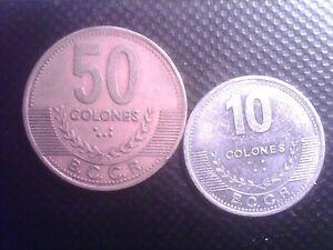 COSTA RICA 10   COLONES 2012  50 COLONES 1997    SEP12