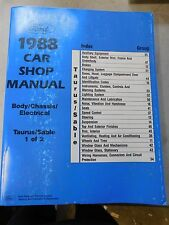Nos 1988 Ford Taurus Mercury Sable Body Chassis Electrical Shop Service Manual