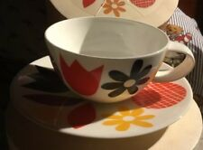 Crate and Barrel Bowers Jenny Bowers tea cup Saucer 2014