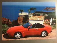 1980s Porsche 944 S2 Cabriolet Advertising Sales Poster RARE!! Awesome L@@K