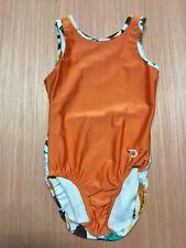 CUTE PLUM Practicewear gymnastics or dance leotard child medium GEOMETRIC Orange