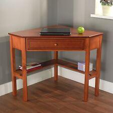 Corner Office Desk Home Laptop Workstation Writing Table Computer Wood Furniture