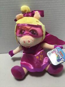 "Disney Junior Muppet Babies Super Fabulous Piggy 8"" Plush Toy Doll NEW TAGS NWT"