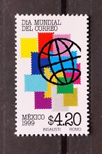 Mexico 1999 World Post Day Planet Stamps Collection Philately Postal Office MNH