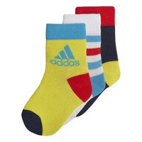 Adidas Kids Socks Athletic Running Ankle 3 Pairs Infants Unisex Baby DW4756 New