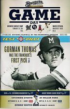 GORMAN THOMAS ON COVER MILWAUKEE BREWERS 2013 OFFICIAL GAMEDAY PROGRAM ISSUE #22