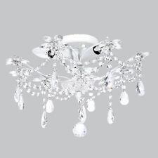 Flush Mount Chandelier Jewels White Bedroom Bathroom Light Fixture Lighting New